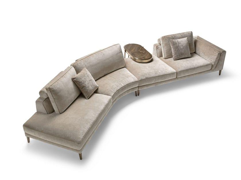 Curved fabric sofa FERDINAND | Sofa by OPERA CONTEMPORARY