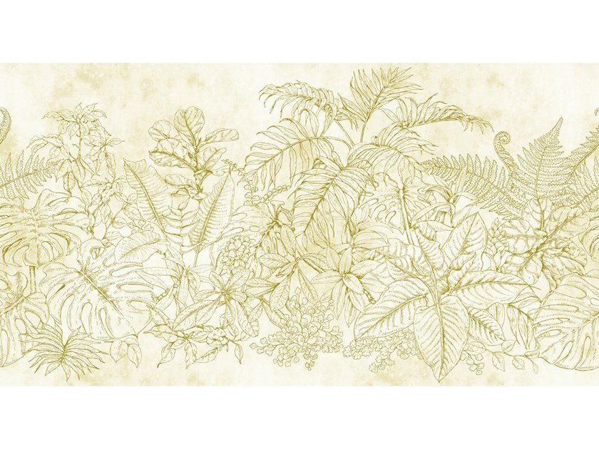 Digital printing wallpaper with floral pattern FERN GARDEN by Architects Paper