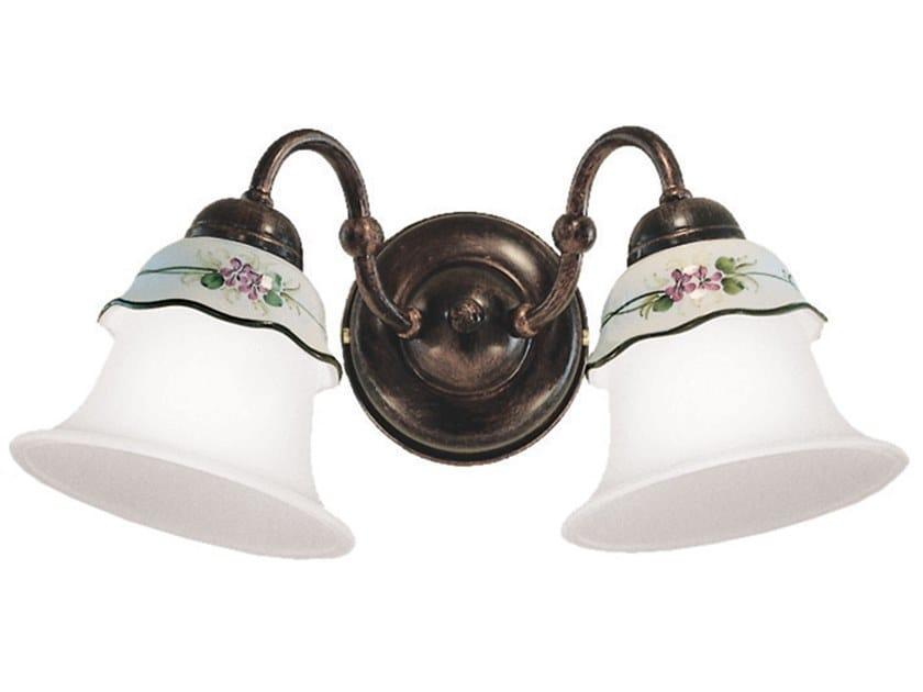 Ceramic wall light with fixed arm FERRARA | Wall light by FERROLUCE