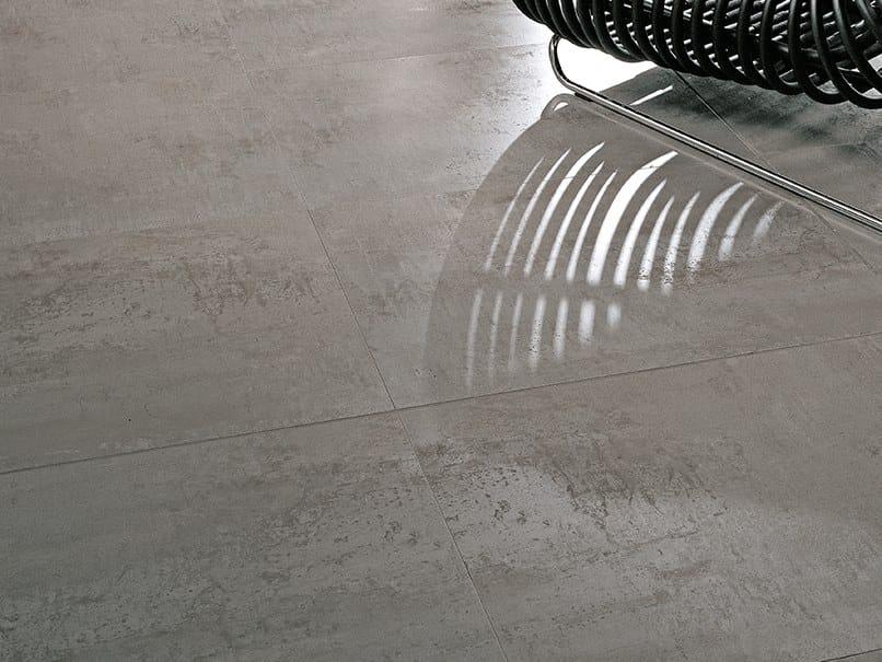 Flooring with metal effect FERROKER ALUMINIO by Venis