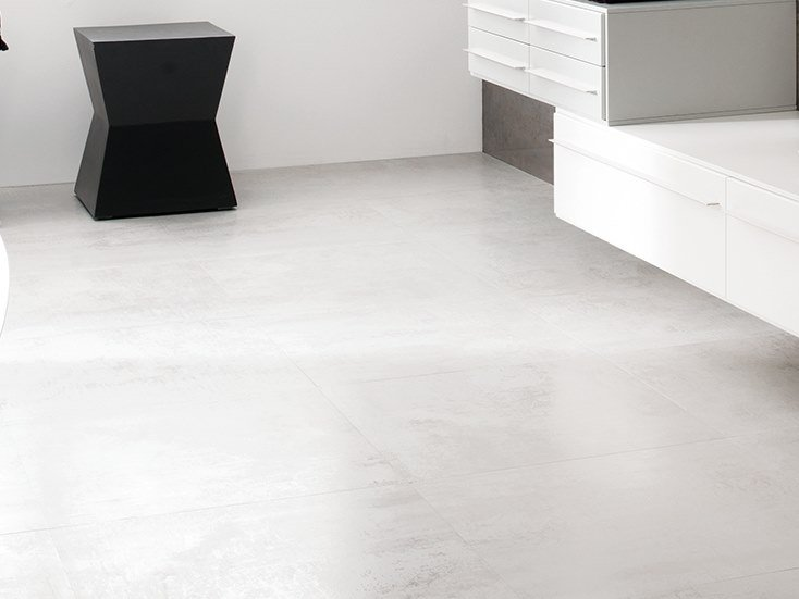 Flooring with metal effect FERROKER PLATINO by Venis