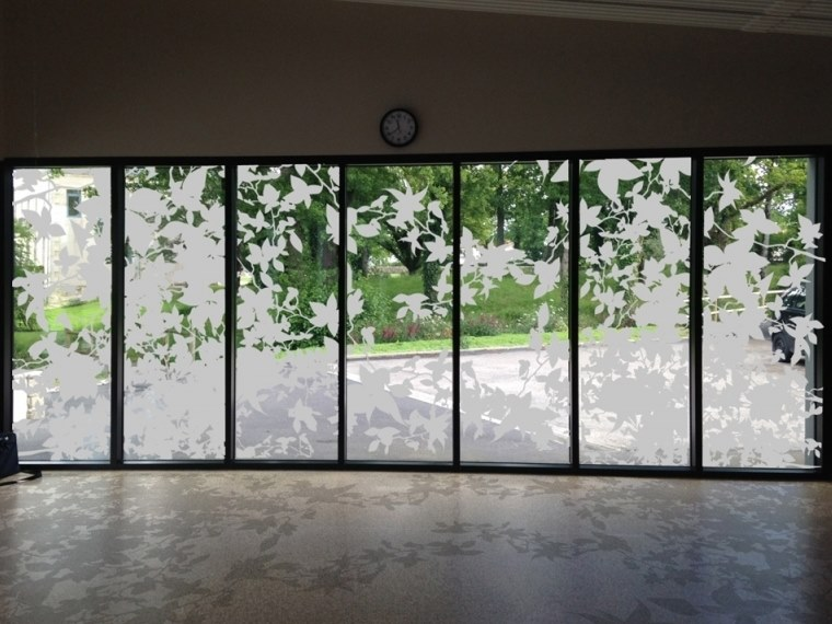Adhesive decorative window film FEUILLAGES by ACTE-DECO