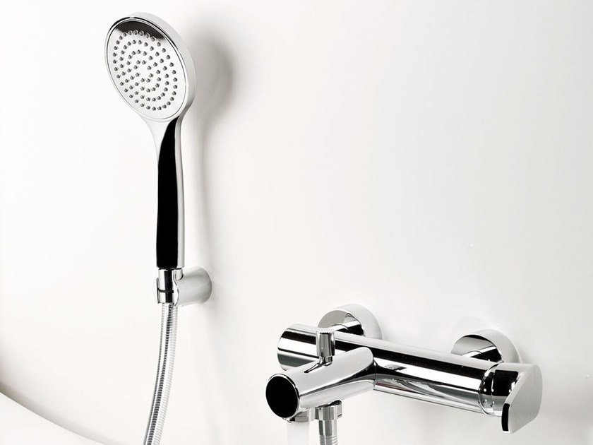 Wall-mounted single handle bathtub mixer FEVERPLAT | Bathtub mixer with hand shower by RITMONIO