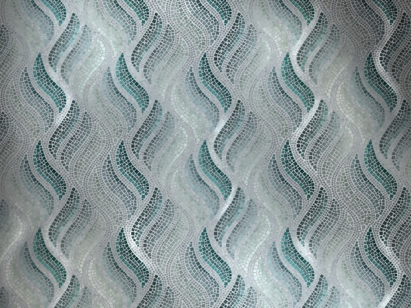 Glass mosaic FIAMMA VERDE by DG Mosaic