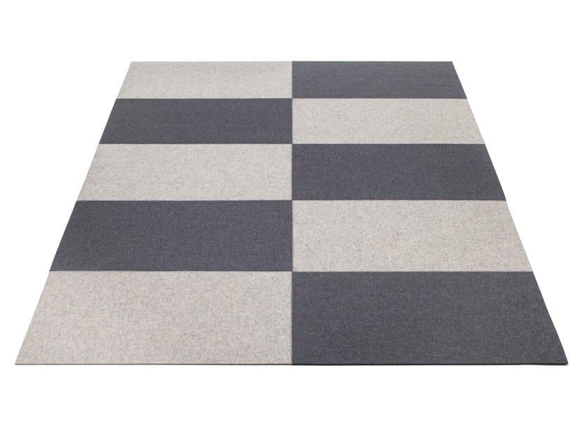 Rectangular felt rug FIELD by HEY-SIGN
