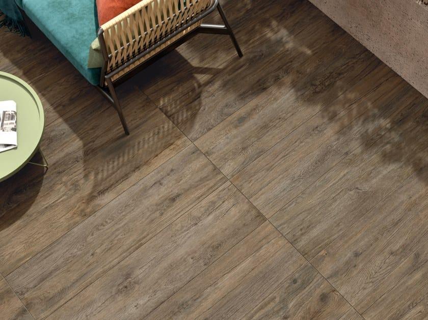 Pavimento in gres porcellanato effetto legno per interni ed esterni FIEMME BROWN by Marca Corona