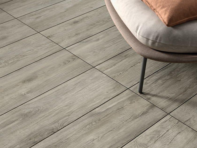 Pavimento in gres porcellanato effetto legno per interni ed esterni FIEMME GREY by Marca Corona