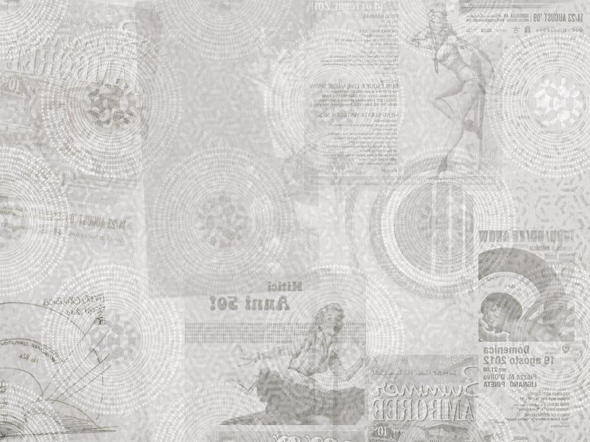 Washable Digital printing writing wallpaper FIFTIES by Tecnografica Italian Wallcoverings