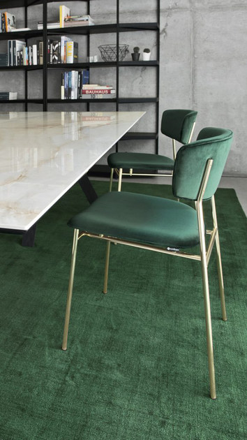 Sedia imbottita in velluto FIFTIES | Sedia in velluto