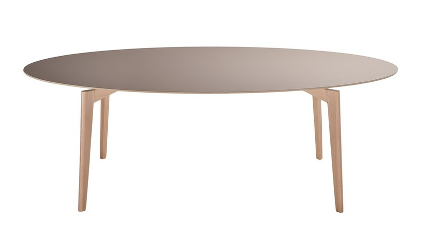 Oval wooden dining table FIFTY   Oval table by Sedex