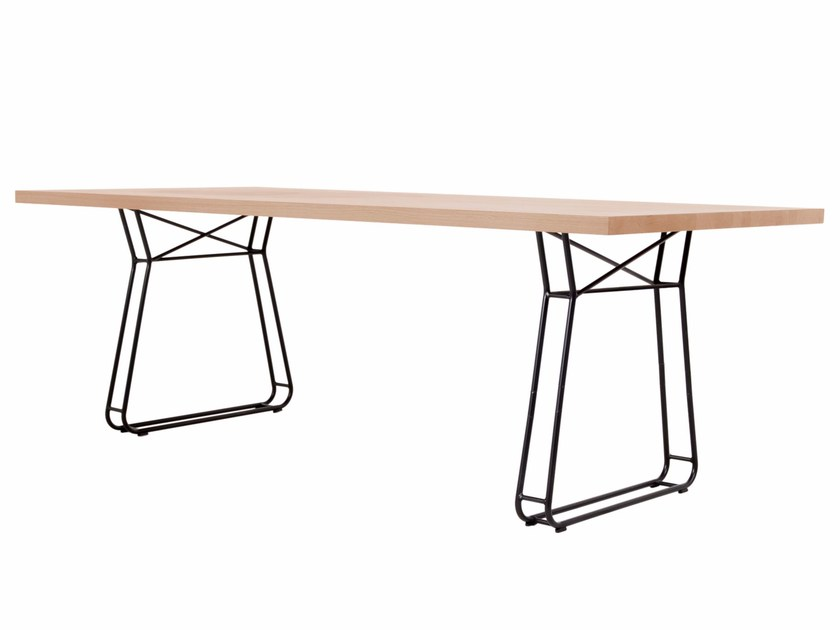 Rectangular wooden table FIGURA by KFF
