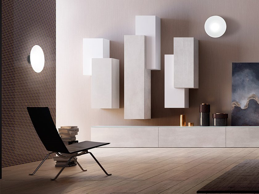 LED glass and aluminium wall light FIJI | Wall light by Cangini & Tucci