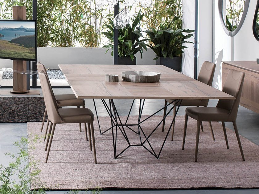 Extending wooden table FIL8 by Ozzio Italia