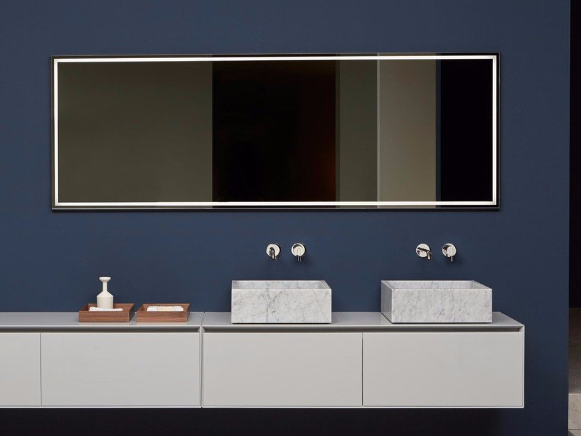Wall Mounted Bathroom Mirror With Integrated Lighting FILA By Antonio Lupi  Design