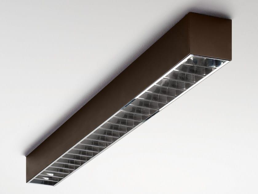 Fluorescent extruded aluminium ceiling lamp FILE 2 | Fluorescent ceiling lamp by LUCIFERO'S
