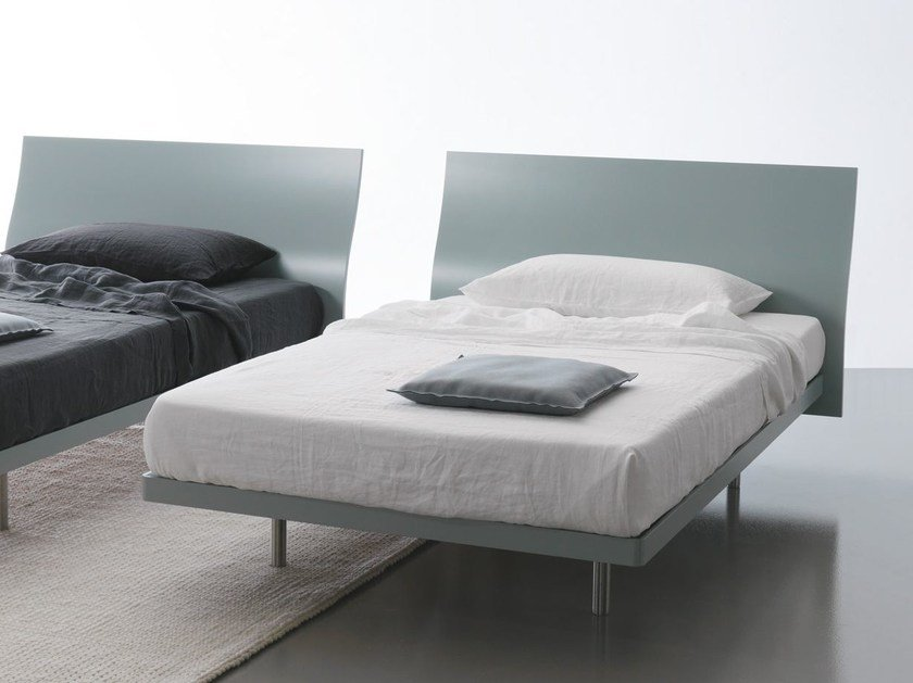 Full size wooden bed FILESSE | Full size bed by Caccaro