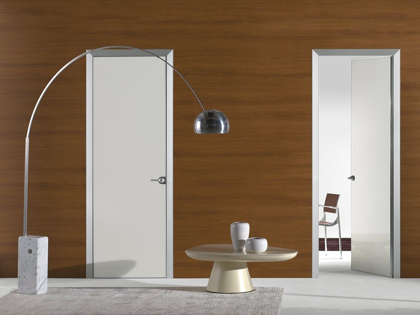 Flush-fitting lacquered glass door FILO A FILO - POLISHED GLASS by PORTEK by LEGNOFORM
