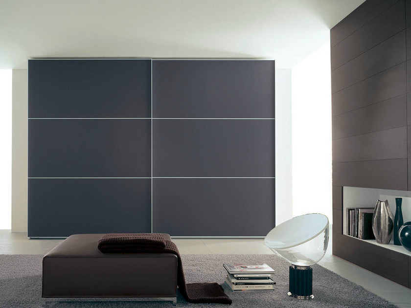 Lacquered wardrobe with sliding doors FILO DUE by Fimar