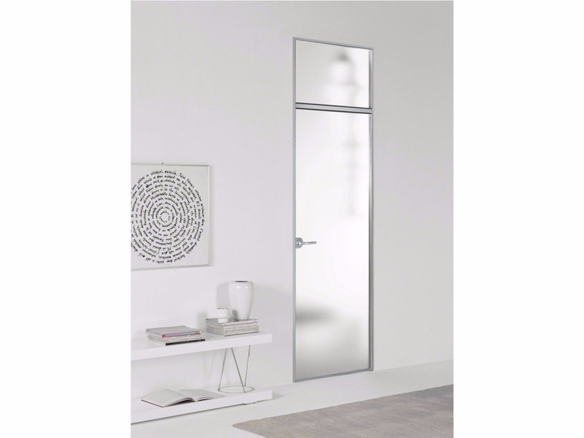 Hinged satin glass door FILO ZERO - SATIN GLASS Filo Zero - satin ...