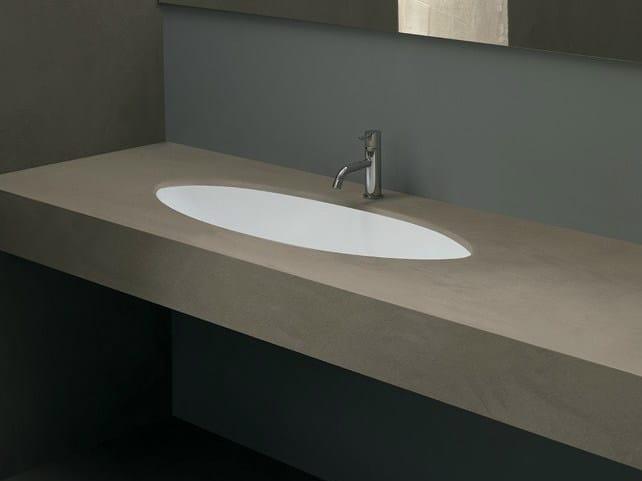 Undermount oval ceramic washbasin FILO90 by Alice Ceramica