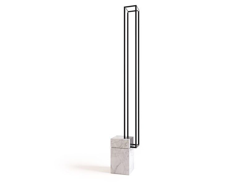 Lampada da terra a LED a luce diretta in marmo di Carrara filoSTONE by Filodesign