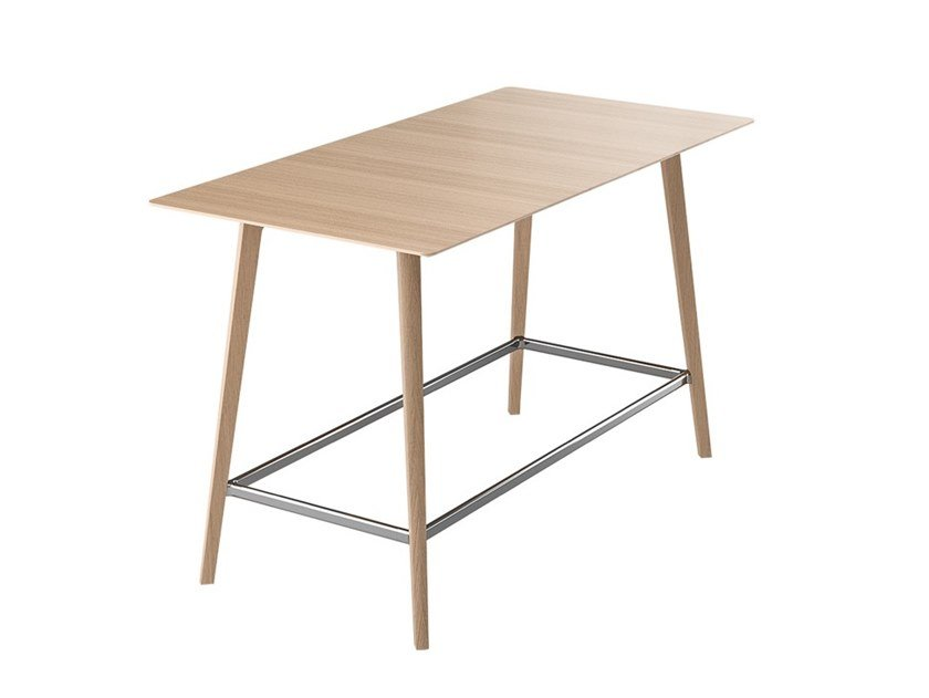Rectangular wooden high table FINA CLUB | High table by Brunner