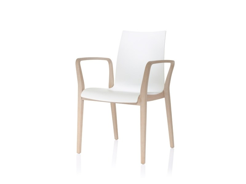 Chair with armrests FINA WOOD | Chair with armrests by Brunner