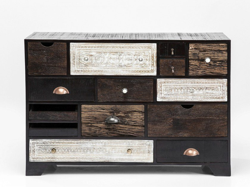 Wooden sideboard with drawers FINCA 14 by KARE-DESIGN