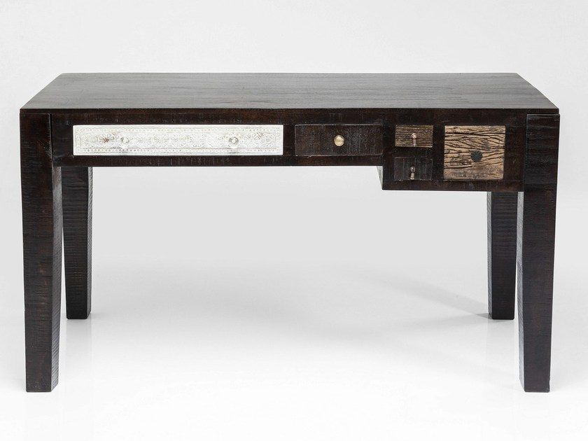 Lacquered writing desk with drawers FINCA | Writing desk by KARE-DESIGN