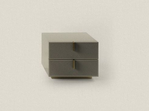 Lacquered bedside table with drawers BEDSIDE TABLE by Paolo Castelli