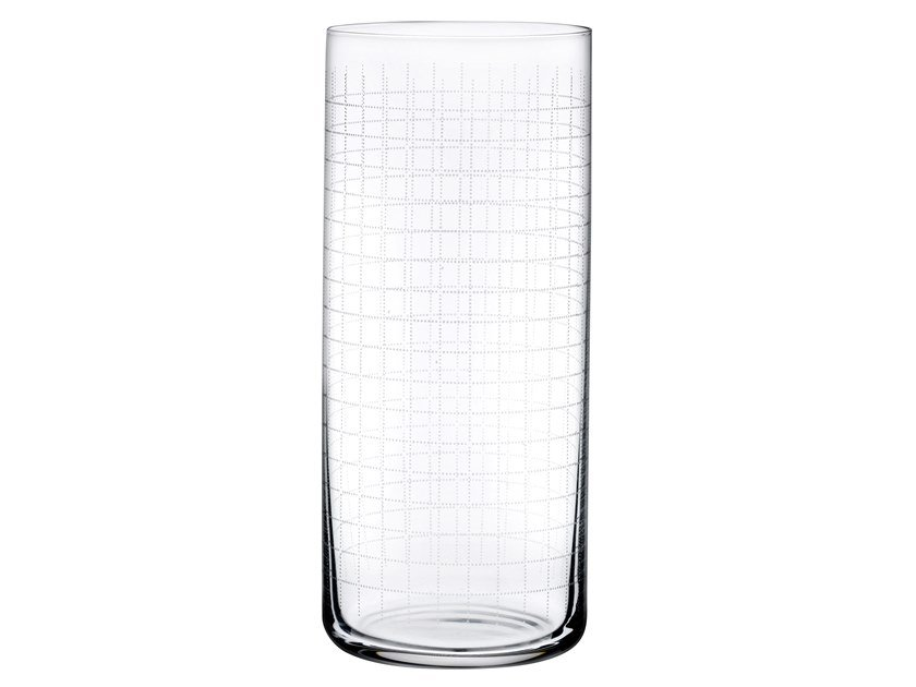 Set of 4 High Ball Glasses FINESSE GRID | Cocktail glass by NUDE