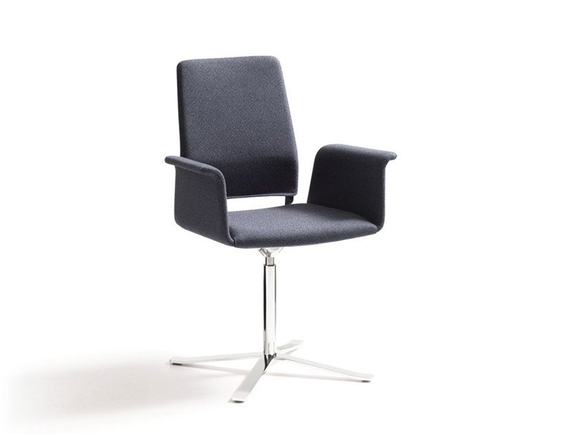 Swivel chair with 4-spoke base with armrests FINO | Chair with 4-spoke base by COR