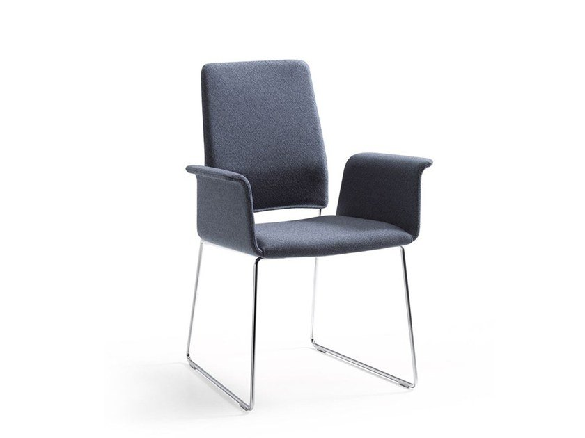 Sled base chair with armrests FINO   Chair with armrests by COR