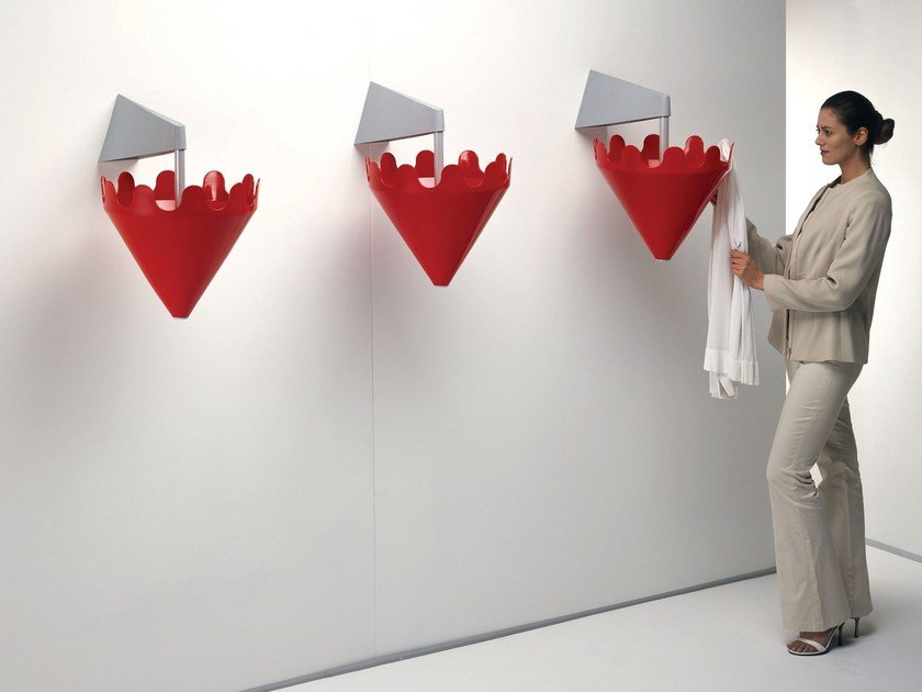 Wall-mounted plastic coat rack FIOCCO by Servetto