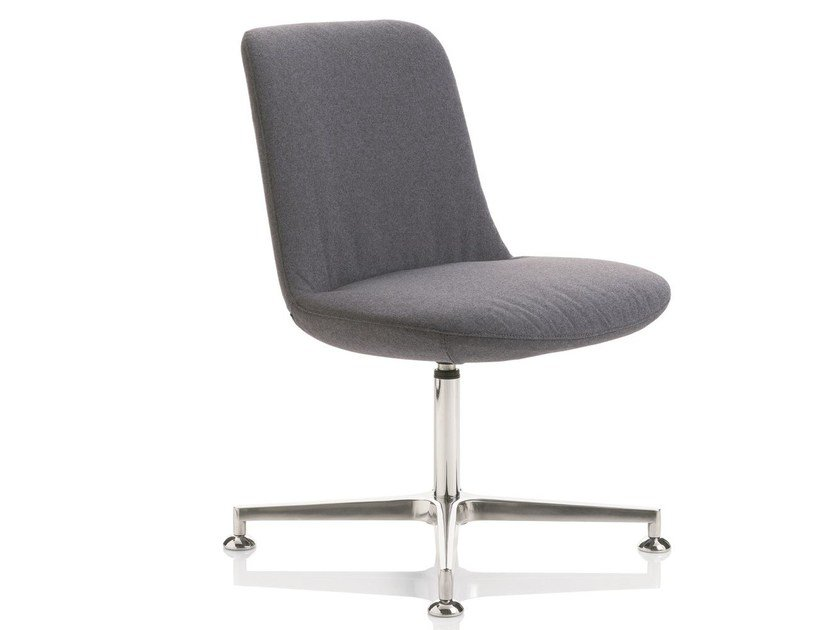 Fabric chair with 4-spoke base FIOR DI LOTO   Chair with 4-spoke base by Emmegi