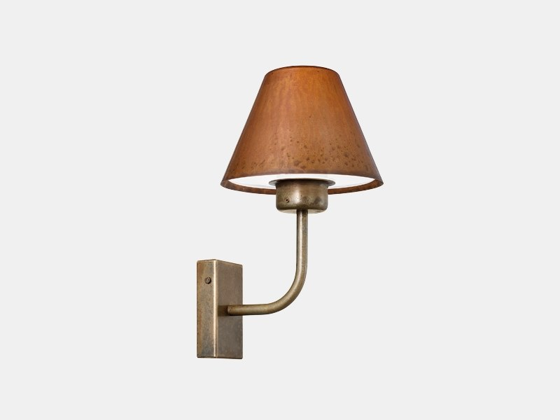 Metal outdoor wall lamp FIORDO 261.01.OR by Il Fanale