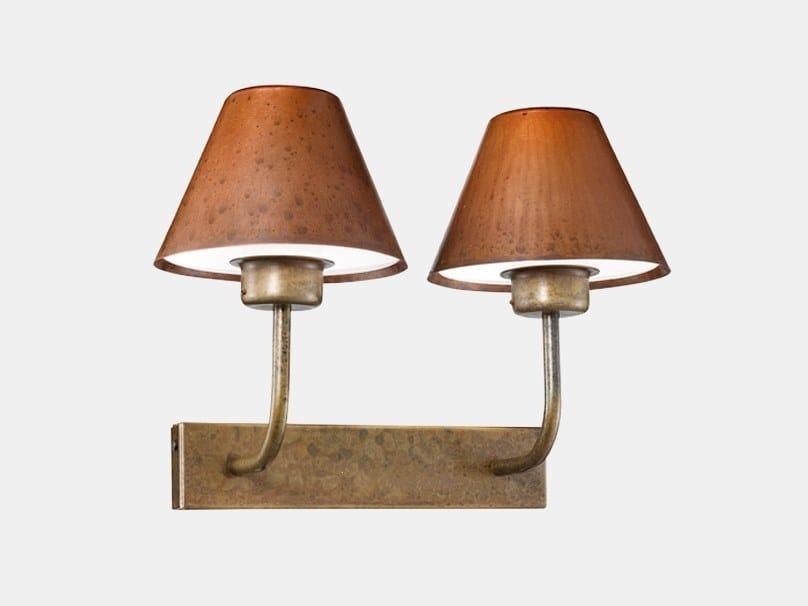 Lampada da parete per esterno in metallo FIORDO 261.02.OR by Il Fanale