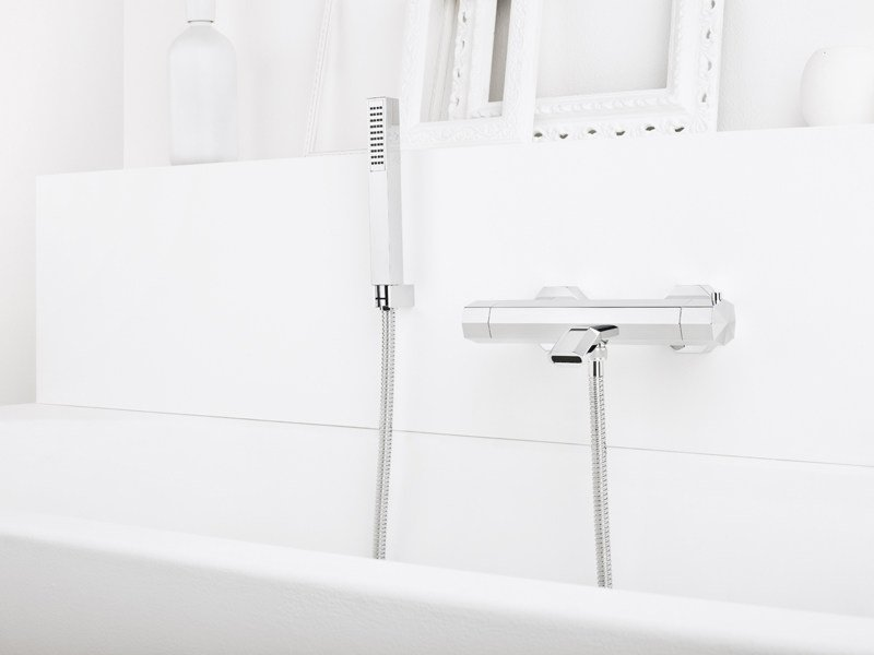 Bathtub mixer with hand shower FIRENZE 3267TM304 by RUBINETTERIE STELLA