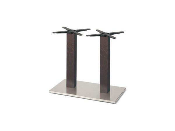 Steel and wood table base FIRENZE 9217 by Montbel