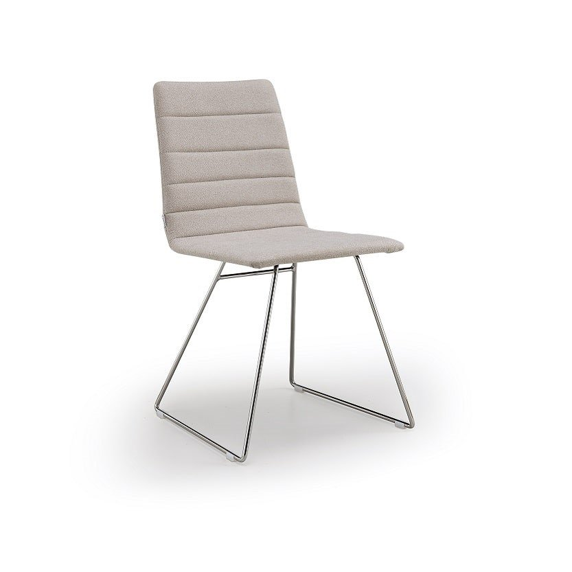 Sled base upholstered chair FIRENZE   Sled base chair by Natisa