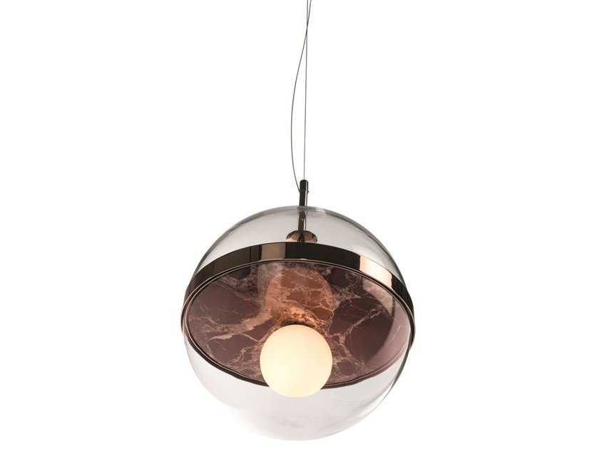 Blown glass pendant lamp FIRENZE by Visionnaire