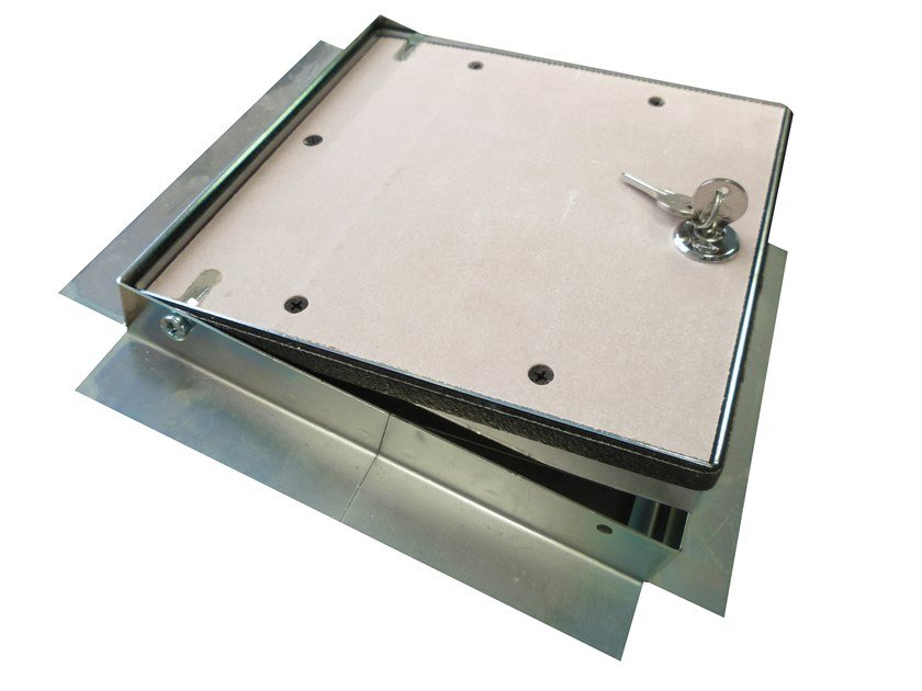 Fireproof steel inspection chamber for partition walls Steel inspection chamber by Biemme