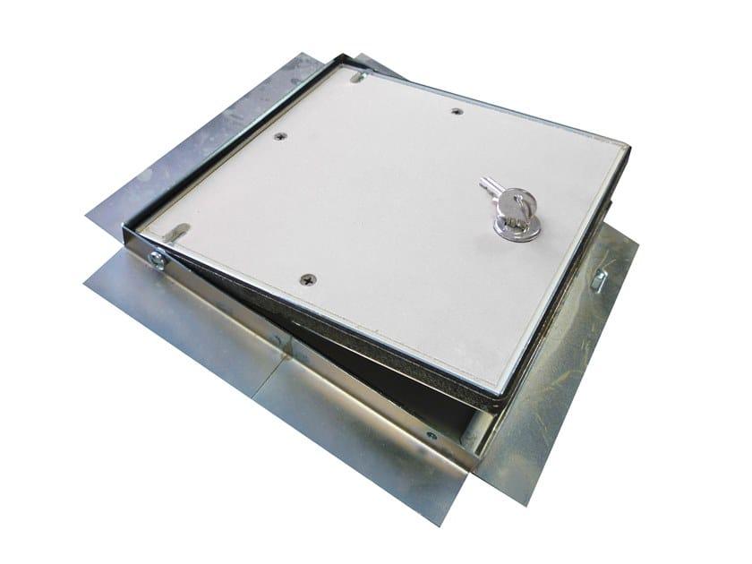 Fireproof steel inspection chamber for suspended ceiling Fireproof inspection chamber by Biemme