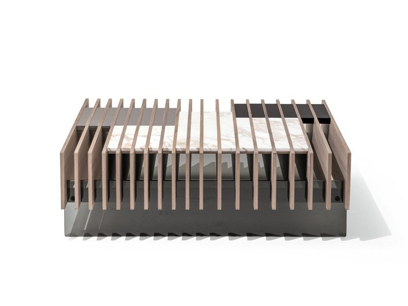 Square ash coffee table FIT | Square coffee table by GIORGETTI