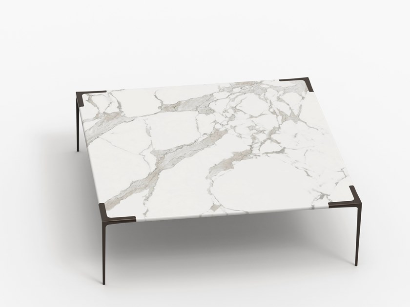 Square marble coffee table FITA | Square coffee table by THELOS