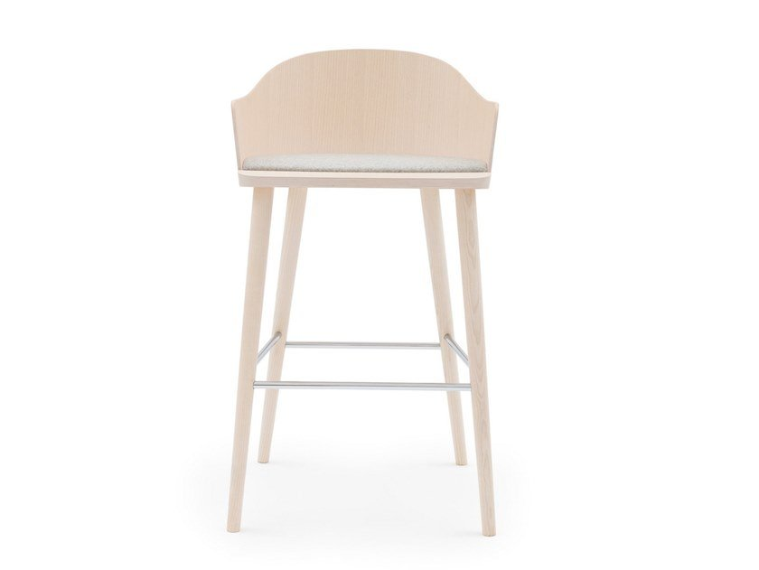 High ash stool with armrests FITT CLASSIC 028 by Billiani