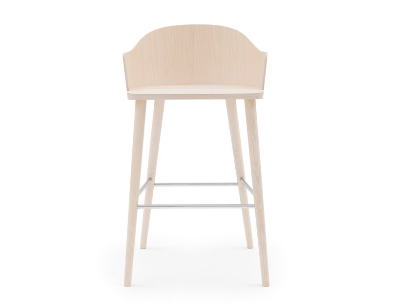 High ash stool with back FITT CLASSIC 029 by Billiani