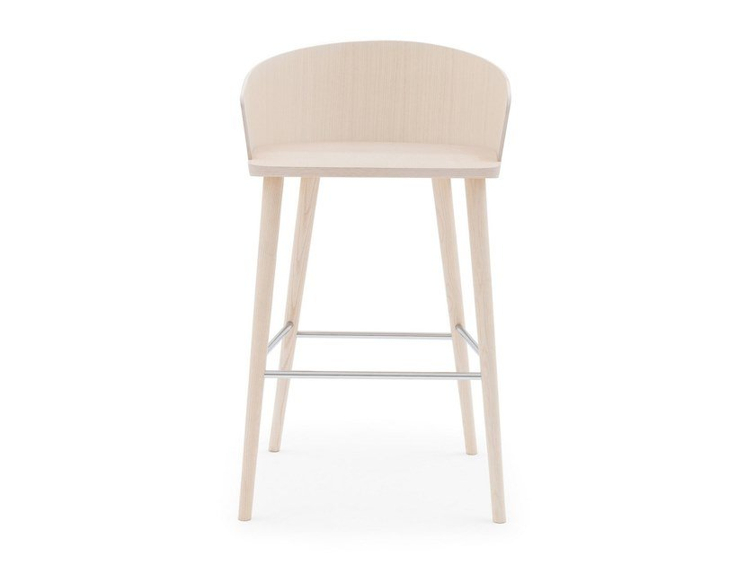 High ash stool with footrest FITT HUG 056 by Billiani