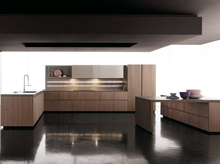 Fitted kitchen without handles GLASS | Fitted kitchen by Zampieri Cucine