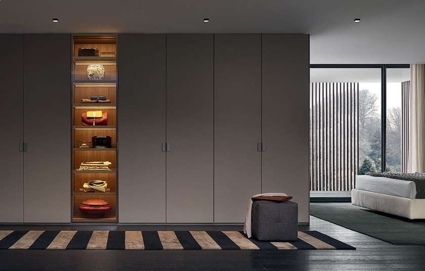 Fitted Lacquered Wardrobe By Poliform